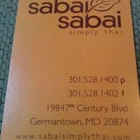 Photo taken at Sabai Sabai Simply Thai by Jereme S. on 9/12/2011