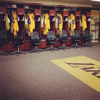 Photo taken at Lakers Locker Room by @SeanZeeeee on 2/21/2012