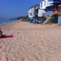 Photo taken at Пляж 15-16 Черноморки by Mary D. on 6/14/2012