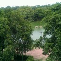 Photo taken at Hauz Khas Lake by Ravi C. on 9/3/2011
