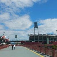 Photo taken at Mazda Zoom-Zoom Stadium Hiroshima by mskz k. on 8/26/2012