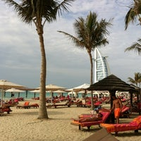 Photo taken at Madinat Jumeirah Private Beach by kristina m. on 4/4/2012