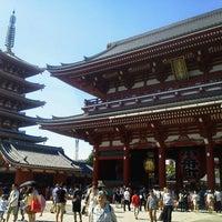Photo taken at Hozomon Gate by Kikuchi H. on 8/5/2012