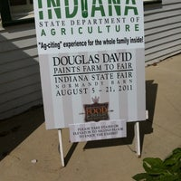 Photo taken at Indiana State Fairgrounds Normandy Barn by Nora S. on 8/15/2011