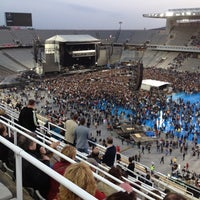 Photo taken at Estadi Olímpic Lluís Companys by Xavier V. on 5/18/2012
