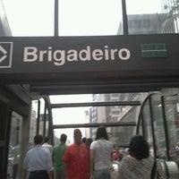 Photo taken at Estação Brigadeiro (Metrô) by Alex S. on 1/5/2012