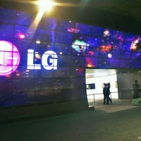 Photo taken at LG Electronics Booth   Halle 11.2 Stand 101 by Ken H. on 9/1/2012