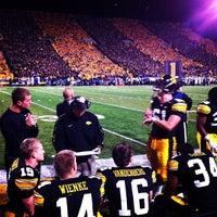 Photo taken at Kinnick Stadium by Chris W. on 10/16/2011