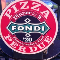 Photo taken at Pizzeria Fondi by Jeffrey H. on 5/11/2011