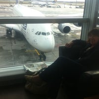 Photo taken at Lufthansa Senator Lounge C by Johannes V. on 10/8/2011