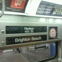 Photo taken at MTA Subway - B Train by Daniel S. on 6/18/2012