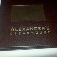 Photo taken at Alexander's Steakhouse - San Francisco by Cory W. on 1/6/2012