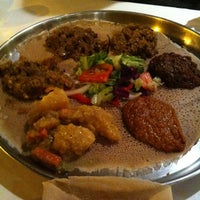 Photo taken at Demera Ethiopian Restaurant by Jessica P. on 10/26/2011