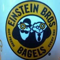 Photo taken at Einstein Bros Bagels by Timothy H. on 1/21/2012