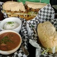 Photo taken at Queen's Louisiana Po-Boy Cafe by Rachel M. on 3/17/2012