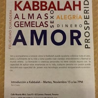 Photo taken at The Kabbalah Centre Panama by Juancho K. on 11/9/2011