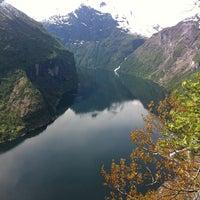 Photo taken at Geirangerfjorden by Frankie F. on 5/11/2011