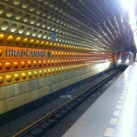 Photo taken at Metro =A= Hradčanská by Petr M. on 4/13/2011