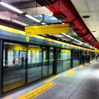 Photo taken at Estação Faria Lima (Metrô) by Douglas O. on 8/1/2012