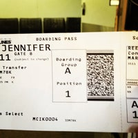 Photo taken at Gate 8 by Jen R. on 3/8/2012