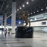 Photo taken at Skopje Alexander the Great Airport (SKP) by Oktay A. on 4/19/2012