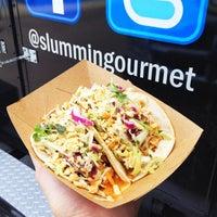 Photo taken at Slummin' Gourmet Food Truck by Elsie on 3/30/2012