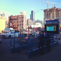 Photo taken at CTA - Grand (Blue) by Chase T. on 8/11/2012