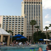 Photo taken at Hilton Orlando Buena Vista Palace Disney Springs Area by Wendy S. on 4/9/2012