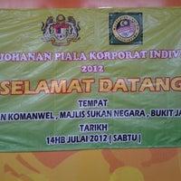 Photo taken at Majlis Sukan Negara by Meedan on 7/14/2012