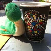 Photo taken at Coupa Café at Green Library by Kylie on 8/9/2012