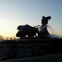 Photo taken at Gefion Fountain by Jan Friborg J. on 3/23/2012