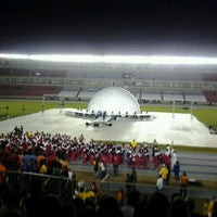 Photo taken at Estadio Rommel Fernández by Johanna N. on 4/16/2012