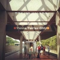 Photo taken at Vienna/Fairfax-GMU Metro Station by Hexxor L. on 7/8/2012