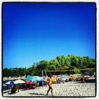 Photo taken at Armenistis Beach by Michalis C. on 8/25/2012