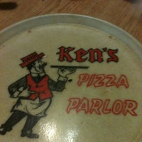 Photo taken at Ken's Pizza Parlor by Jordan D. on 3/26/2012