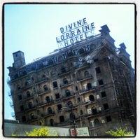 Photo taken at Divine Lorraine Hotel by Chris on 4/15/2012