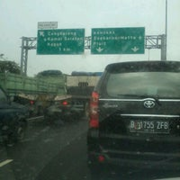 Photo taken at Jalan Tol Lingkar Luar Jakarta Seksi W1 (JORR W1) by dessi h. on 4/30/2012
