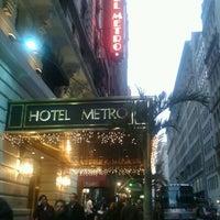 Photo taken at Hotel Metro by Jill K. on 12/9/2011