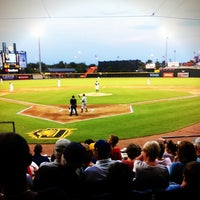 Photo taken at Bragan Field at the Baseball Grounds of Jacksonville by Ashley N. on 4/6/2012