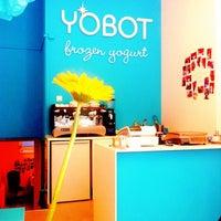 Photo taken at Yobot Frozen Yogurt by Thuy M. on 4/10/2012