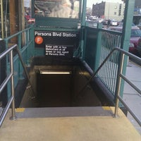 Photo taken at MTA Subway - Parsons Blvd (F) by Yahmeela S. on 12/22/2011