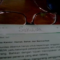 Photo taken at SMAN 98 Jakarta by Andriyani B. on 9/10/2012