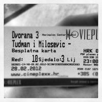 Photo taken at Movieplex by Josipa M. on 2/28/2012
