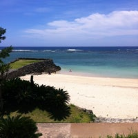 Photo taken at Yonama Beach by meg Y. on 6/30/2012