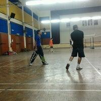 Photo taken at Badminton Court @ Dewan Bandaran Kampar by Luqman A. on 9/1/2012