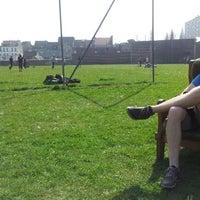 Photo taken at Graspleintje voor het Technicakot by Filip V. on 3/28/2012