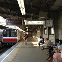 Photo taken at Nishinakajima-Minamigata Station (M14) by Yuriko I. on 5/5/2012