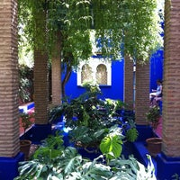 Photo taken at Jardin de Majorelle by Melina B. on 7/29/2011