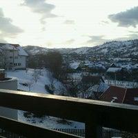 Photo taken at Pensiunea Yanna Bran by Isac L. on 1/13/2012