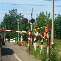 "Photo taken at Переезд ""Новодачная"" by Maltseva on 6/25/2012"